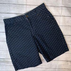 WRK Marterials Men's Navy White Chino Shorts 32